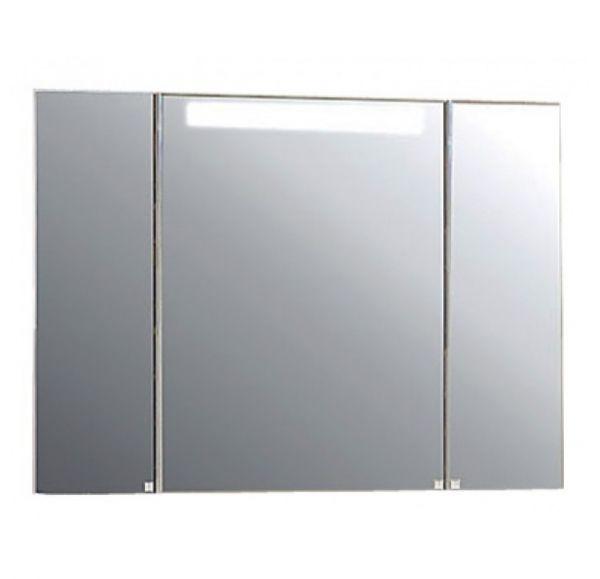Мадрид100 Шкаф-зеркало белый со светильником 1A111602MA010