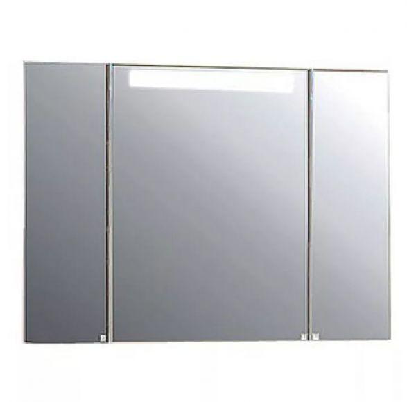 Мадрид120 Шкаф-зеркало со светильником белый 1A113402MA010