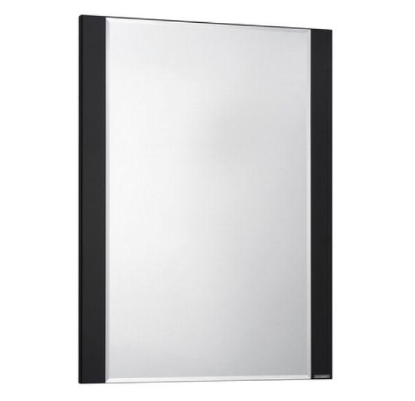Ария 65 зеркало черный глянец с полкой 1A133702AA950