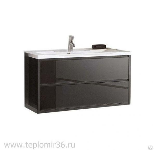 Римини 100 тумба под умывальник черный глянец 1A134501RN950