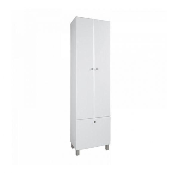 Симпл шкаф-колонна 2 ств. с бельевой 1A137403SL010