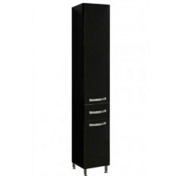 Ария Н шкаф-колонна черный глянец 1A124303AA950