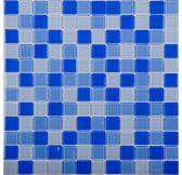 EP354 мозаика стеклянная 300*300*4 микс голубого