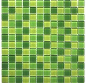 EP398 мозаика стеклянная 300*300*4 микс зеленого