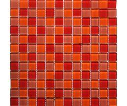 EP397 мозаика стеклянная 300*300*4 микс красного