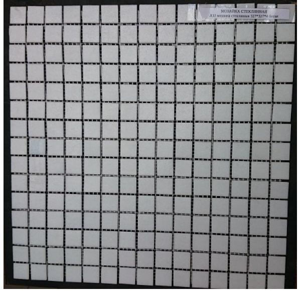 A11 мозаика стеклянная 327*327*4 белая