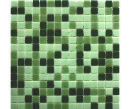 MC109 мозаика стеклянная 327*327*4 микс зеленого