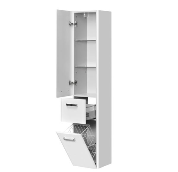 Валенсия шкаф-колонна подв бел жемчуг левая 1A123803VAG3L