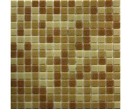 MC103 мозаика стеклянная 327*327*4 микс песочного