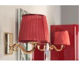 Светильник 3009/M/ORO цвет золото, плафон красный 1AX014SVXX000