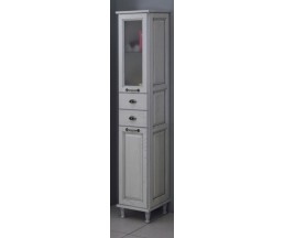 Жерона шкаф-колонна белое серебро 1A158903GEM2L