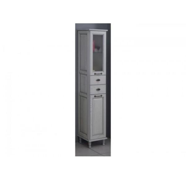 Жерона шкаф-колонна белое серебро 1A158903GEM2R