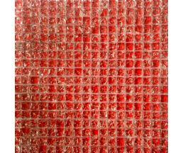 ST15B01 мозаика стеклянная 300*300*8 красное битое стекло