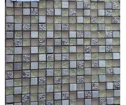 FG19 мозаика стеклянная 300*300*8 бежевые камни
