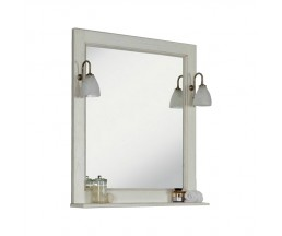 Жерона 85 зеркало белое золото 1A158702GEM40+2 свет Isabel