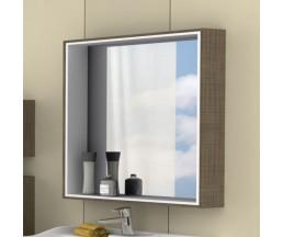 Фабиа 80 зеркало-шкаф 1A166902FBPF0 корица