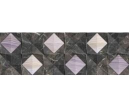 Лацио Обл.плитка  черн(декор) 60*20 17-01-04-377