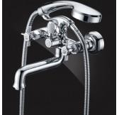 Praktic Chrome Смеситель для ванны двухвентильный с д/к (короткий излив) 2312660