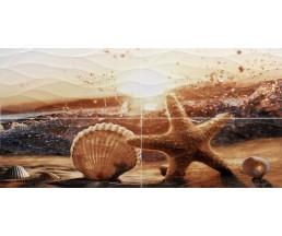 Ривьера Панно из 4-х плиток 1000х498 ПН98