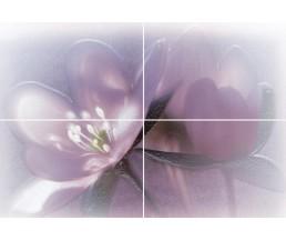 Лила Панно из 4-х плиток 728х498