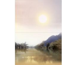 Бамбук Панно из 2-х плиток  Река 364х498  ПН7БМ3