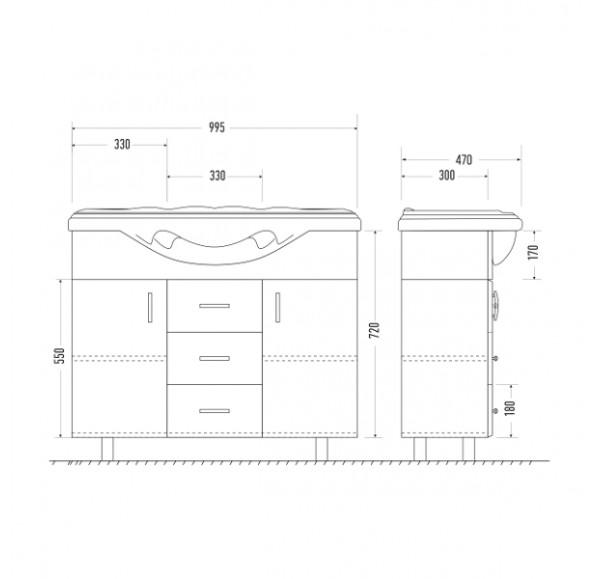 Версаль 105 тумба массив (America 105)