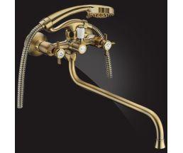 Praktic Bronze Смеситель для ванны двухвентильный с д/к 2702660-Bronze