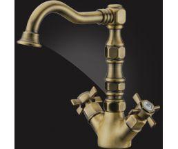 Praktic Bronze Смеситель для раковины двухвентильный 19A2660-Bronze