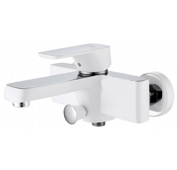 Berlin Смеситель для ванны однорычажный с д/к белый/хром DA1433216