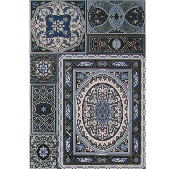 Aladdin Pattern Mix BL плитка настенная голубая 27.5x40