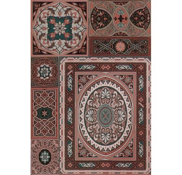 Aladdin Pattern Mix M плитка настенная коричневая 27.5x40