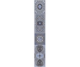 Aladdin Pattern BL  бордюр голубой 7*40