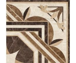 Petrarka Chateau Rosette декор  бежевый 40*40 (СНЯТО С ПРОИЗВОДСТВА)