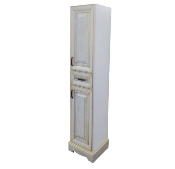 Версаль Premium шкаф-колонна белое золото 1800*350*350