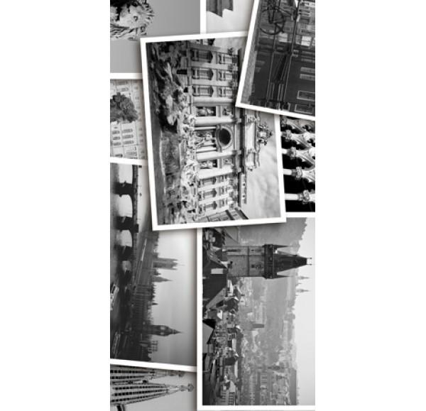 Absolute Collage декор-1  черно-белый 30*60