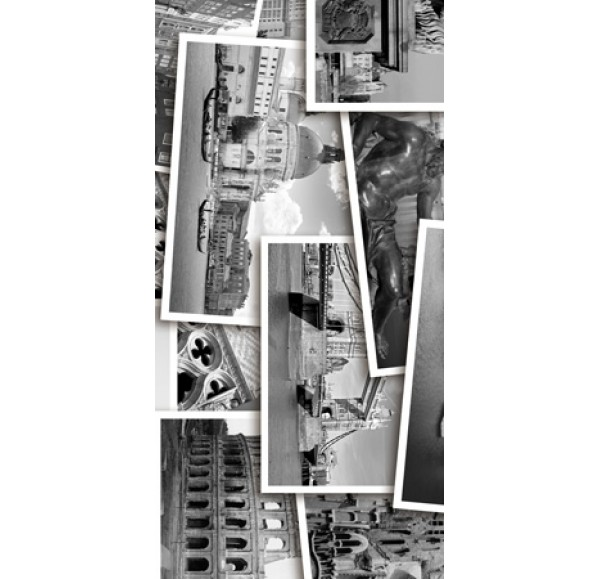 Absolute Collage декор-2  черно-белый 30*60