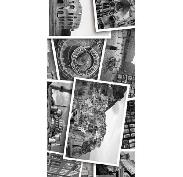 Absolute Collage декор-4  черно-белый 30*60