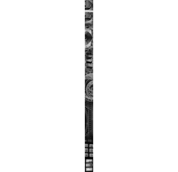 Absolute Collage фриз черно-белый 3*60