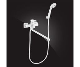 Mondschein White Смеситель для ванной однорычажный с д/к 5302235-White