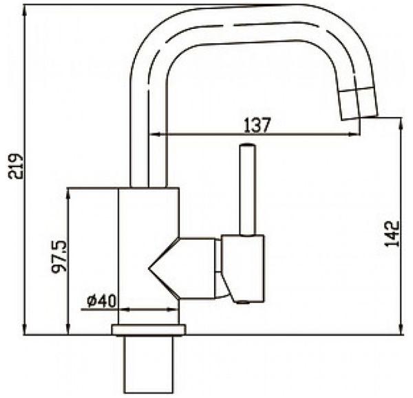 Cliq Смеситель для умывальника однорычажный, хром 16A1024