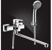 Mondschei Смеситель для ванны однорычажный с душевым комплектом, хром5302235