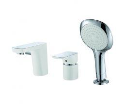 Врезной смеситель для ванны белый/хром DA1434916