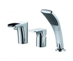 Врезной смеситель для ванны каскадный излив DA1434201