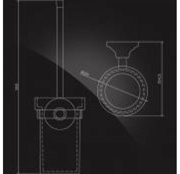 CARRINGTON CRG-810 Держатель ерша настенный стекло