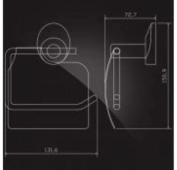 WORRINGEN WRG-300 Держатель туалетной бумаги с крышкой