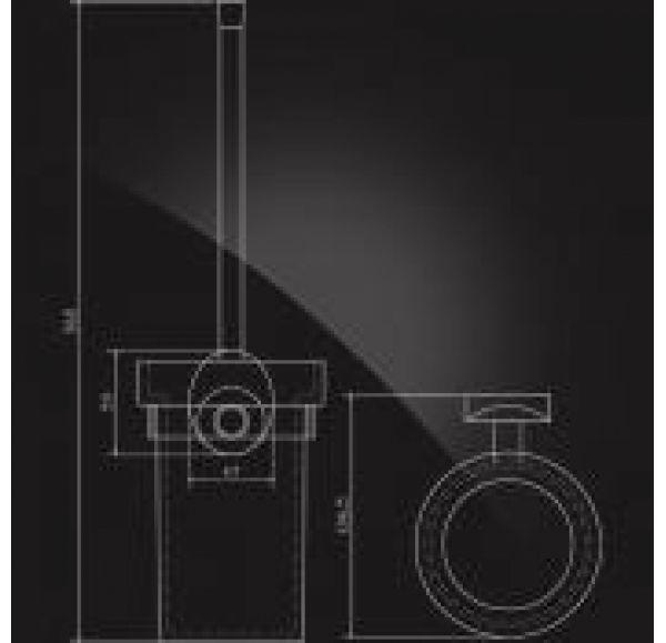 WORRINGEN WRG-810 Держатель ерша настенный стекло