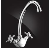 KIMBERLI Смеситель для кухни двухвентильный, хром 5930063