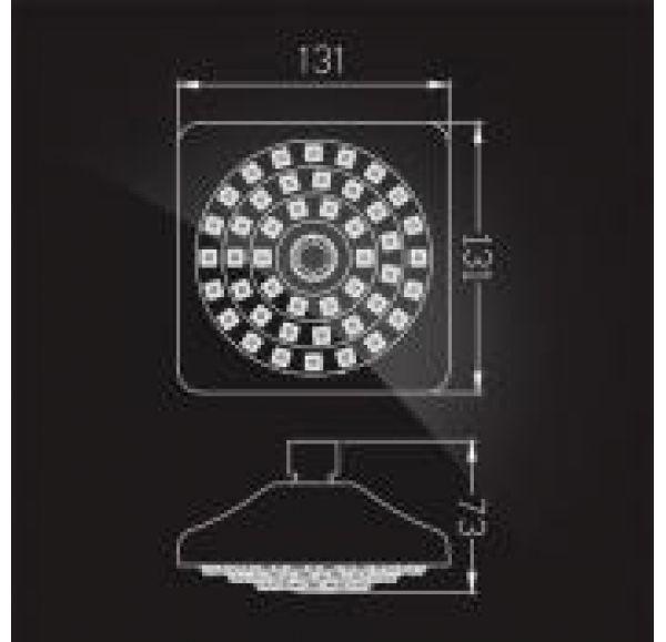 Лейка душевая SHOWER HEAD, хром/белый MS-051