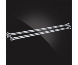 Карниз двойной для ванной с кольцами(12 шт.) 1035*1850мм CD-2-Chrome