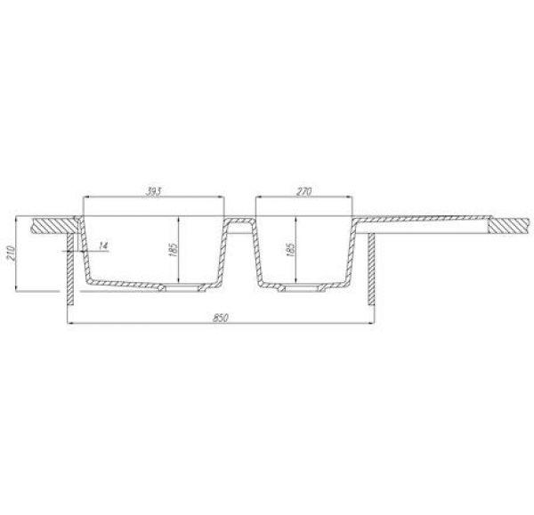 Торина мойка кухонная двойная жемчуг 1A712032TR240